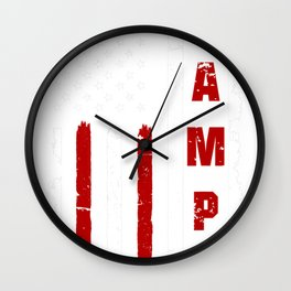 Mens Cool American Flag, Father's day for Bampy Wall Clock