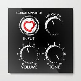 Amplify your love- Music-Guitar-Rock,Blues,Pop,Metal,Jazz,Orchestra Metal Print