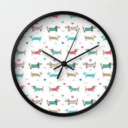 Dachshunds love Wall Clock