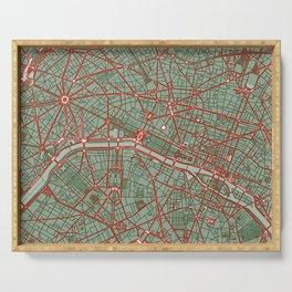 Paris city map pop Serving Tray
