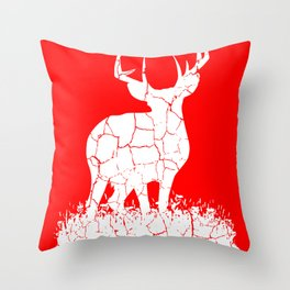 Deer nature forest camping hunting life gift Throw Pillow