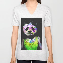 Panda Head Unisex V-Neck