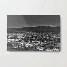 Okanagan Cityscape BW Metal Print