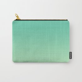 Neo Mint Green Pastel Ombre Gradient Abstract Sea Leaf Pattern Trendy Color of the Year 2020 Carry-All Pouch