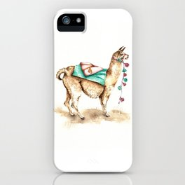 Watercolor Llama iPhone Case