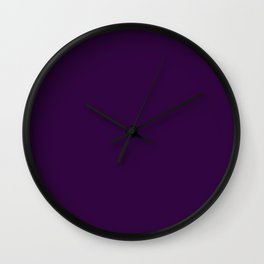 Deep Bold Royal Purple - Solid Plain Block Colours / Colors - Berry / Jewel Tones / Autumnal / Fall Wall Clock