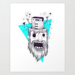 SYNTH-POP BLUE Art Print