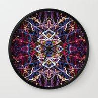 baphomet Wall Clocks featuring Baphomet 5 by Kevin Kolstad