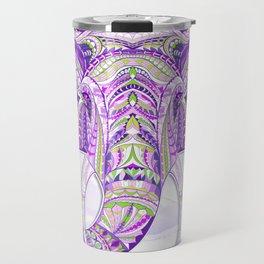Purple Ethnic Elephant Travel Mug