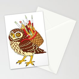 Art Owl Stationery Cards