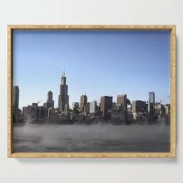 Fog in the Windy City Serving Tray