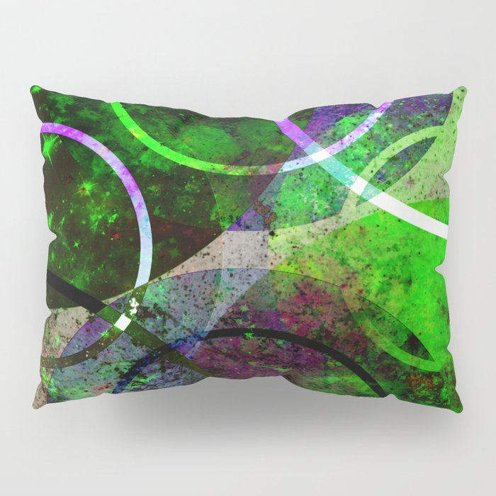 Other Dimensions - Abstract, geometric, textured, space themed artwork Pillow Sham