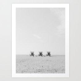 California 3 Blanc Art Print
