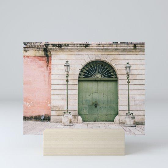 Old wooden green doors in Italy | Wanderlust travel photography art by raisazwart