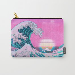 Vaporwave Aesthetic Great Wave Off Kanagawa Carry-All Pouch