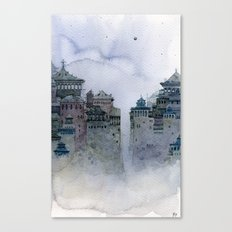 grey moon Canvas Print