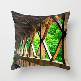 Covered Bridge 2 Throw Pillow
