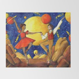 Dance under the stars Throw Blanket