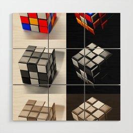 Rubiks Cube Wood Wall Art