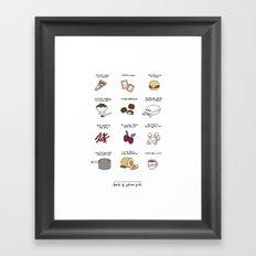 Foods of Gilmore Girls Framed Art Print