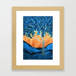 """Twilight Woods #330 (ARTIST TRADING CARDS) 2.5"""" x 3.5"""" by Mike Kraus - aceo valentines day wife girl Framed Art Print"""