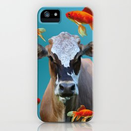 Goldfishes with Costa Rica Cow iPhone Case