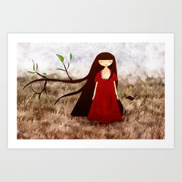 Branch Hair Art Print