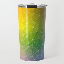 Triangulated Rainbow Background Pattern Travel Mug