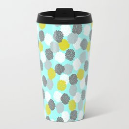 Block Printed Floral Travel Mug