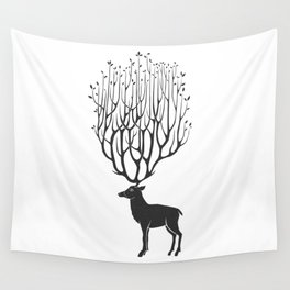 patient deer Wall Tapestry
