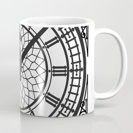Big Ben, Clock Face, Intricate Vintage Timepiece Watch Coffee Mug
