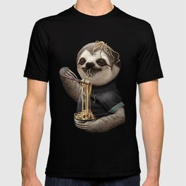 SLOTH EATING NOODLE T-shirt