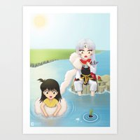 inuyasha Art Prints featuring Inuyasha:  Summer by Kerstie Milana