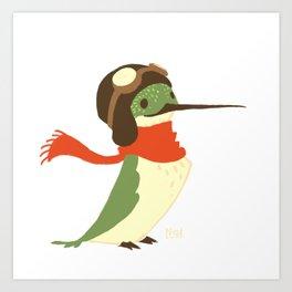 Aviator Hummingbird Art Print