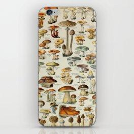 Mushrooms Vintage Scientific Illustration French Language Encyclopedia Lithographs Educational iPhone Skin