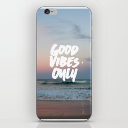 Good Vibes Only Beach and Sunset iPhone Skin