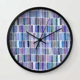 Watercolor Blue Swatches Wall Clock