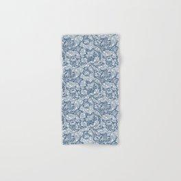 William Morris Navy Blue Botanical Pattern 5 Hand & Bath Towel