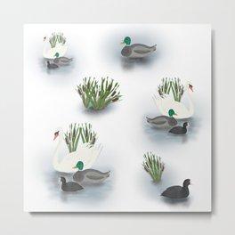 Best of friends water birds Metal Print