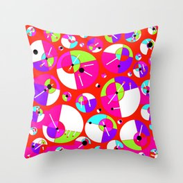 Bubble Red Throw Pillow