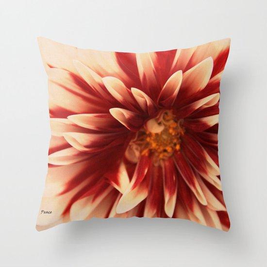a little peace Throw Pillow