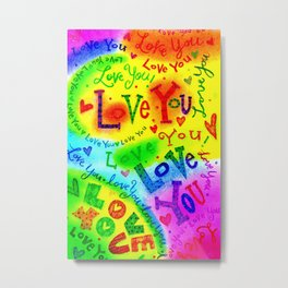 I LOVE YOU Painting Metal Print