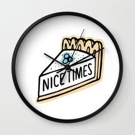 Nice Times Pie Wall Clock