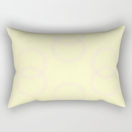 Simply Infinity Link Pink Flamingo on Pale Yellow Rectangular Pillow
