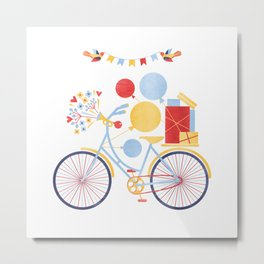 Party Bike Metal Print