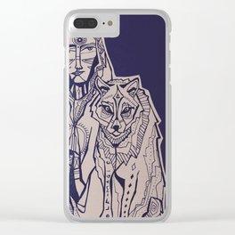 wolf magic Clear iPhone Case