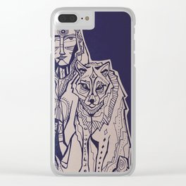 wolf magic Clear iPhone Case