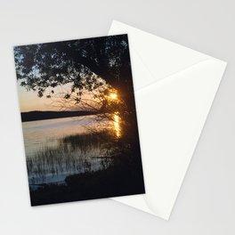 sunset on fraser lake Stationery Cards