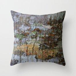 Close-up of bark texture Throw Pillow