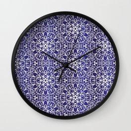 Midnight Flowers Wall Clock
